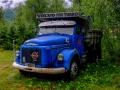 Ein alter Volvo-Truck